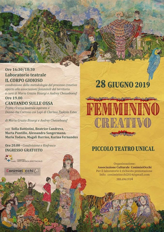 CANTANDO SULLE OSSA - Performance conclusiva del PROCESSO laboratoriale, PiccoLo Teatro, Università della Calabria.